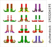 cartoon elves legs vector icons ... | Shutterstock .eps vector #1903204195