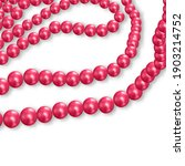 Red Pearl Beads. Abstract...