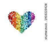 heart glitter rainbow colors... | Shutterstock .eps vector #1903223428