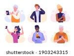 people using smartphones ... | Shutterstock .eps vector #1903243315