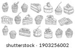 cakes and cheesecakes sketch ...   Shutterstock .eps vector #1903256002