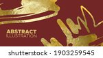 vector red and gold design... | Shutterstock .eps vector #1903259545