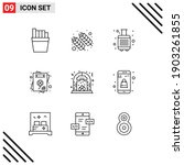modern set of 9 outlines... | Shutterstock .eps vector #1903261855