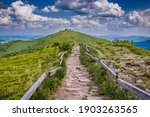 Path To Mountain Shelter On A...