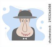 unusual flat vector character.... | Shutterstock .eps vector #1903266088