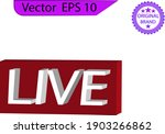 live streaming icons set.  red... | Shutterstock .eps vector #1903266862