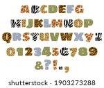 handdrawn alphabet letters and... | Shutterstock .eps vector #1903273288