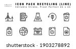 icon set of recyling vector...   Shutterstock .eps vector #1903278892