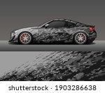 car wrap vinyl racing decal... | Shutterstock .eps vector #1903286638