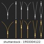 metal zip fasteners  silver... | Shutterstock .eps vector #1903304122