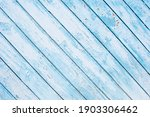 White Old Wooden Fence. Wood...