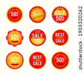 red sale label  banner and... | Shutterstock .eps vector #1903320262