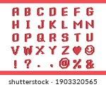 red voxel art alphabet set | Shutterstock .eps vector #1903320565