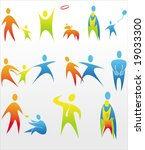 human icons | Shutterstock .eps vector #19033300
