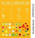fruit icons.   Shutterstock .eps vector #190333112