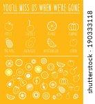 fruit line icons.   Shutterstock .eps vector #190333118