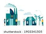 industrial infographic template ... | Shutterstock .eps vector #1903341505