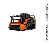 orange forestry mulching...   Shutterstock .eps vector #1903435042