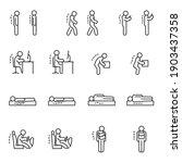 good posture icon set.... | Shutterstock .eps vector #1903437358