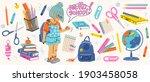 big set of school supplies....   Shutterstock .eps vector #1903458058