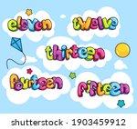 eleven  twelve  thirteen ... | Shutterstock .eps vector #1903459912