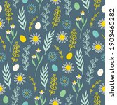 easter seamless pattern with... | Shutterstock .eps vector #1903465282