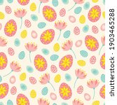 easter seamless pattern with... | Shutterstock .eps vector #1903465288
