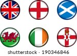 flag icons of the british isles.... | Shutterstock .eps vector #190346846