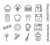 set of cute food icon....   Shutterstock .eps vector #1903477942