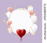 colorful pink heart balloon...   Shutterstock .eps vector #1903480972