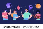 set of characters on black... | Shutterstock .eps vector #1903498255