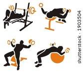 fitness vector icons series. | Shutterstock .eps vector #1903504