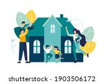 parents rejoice with their... | Shutterstock .eps vector #1903506172