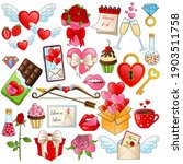 valentine's day set. holiday... | Shutterstock .eps vector #1903511758
