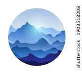 Mountain Peaks Landscape Vector ...