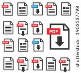 pdf file download icon.... | Shutterstock .eps vector #1903537798