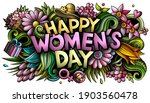 happy womans day hand drawn... | Shutterstock .eps vector #1903560478