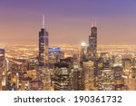 city of chicago. aerial view of ... | Shutterstock . vector #190361732