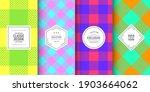 buffalo bright check plaid... | Shutterstock .eps vector #1903664062