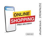 online shopping sale and... | Shutterstock .eps vector #1903696252