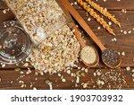 Wooden Spoons Of White Sesame...