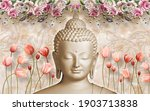 3d Wallpaper  Buddha Face With...