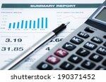 business graph analysis report. ... | Shutterstock . vector #190371452