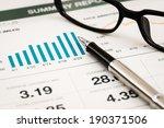business graph analysis report. ... | Shutterstock . vector #190371506