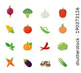 vegetable full color flat... | Shutterstock .eps vector #190373126