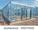 new home under construction... | Shutterstock . vector #190375442