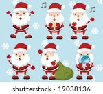 lovely santa claus | Shutterstock .eps vector #19038136