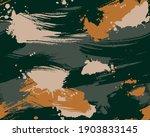 seamless brushstroke camouflage ... | Shutterstock .eps vector #1903833145