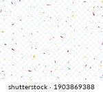 colorful confetti celebrations... | Shutterstock .eps vector #1903869388