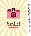 smile camera poster | Shutterstock .eps vector #190388315